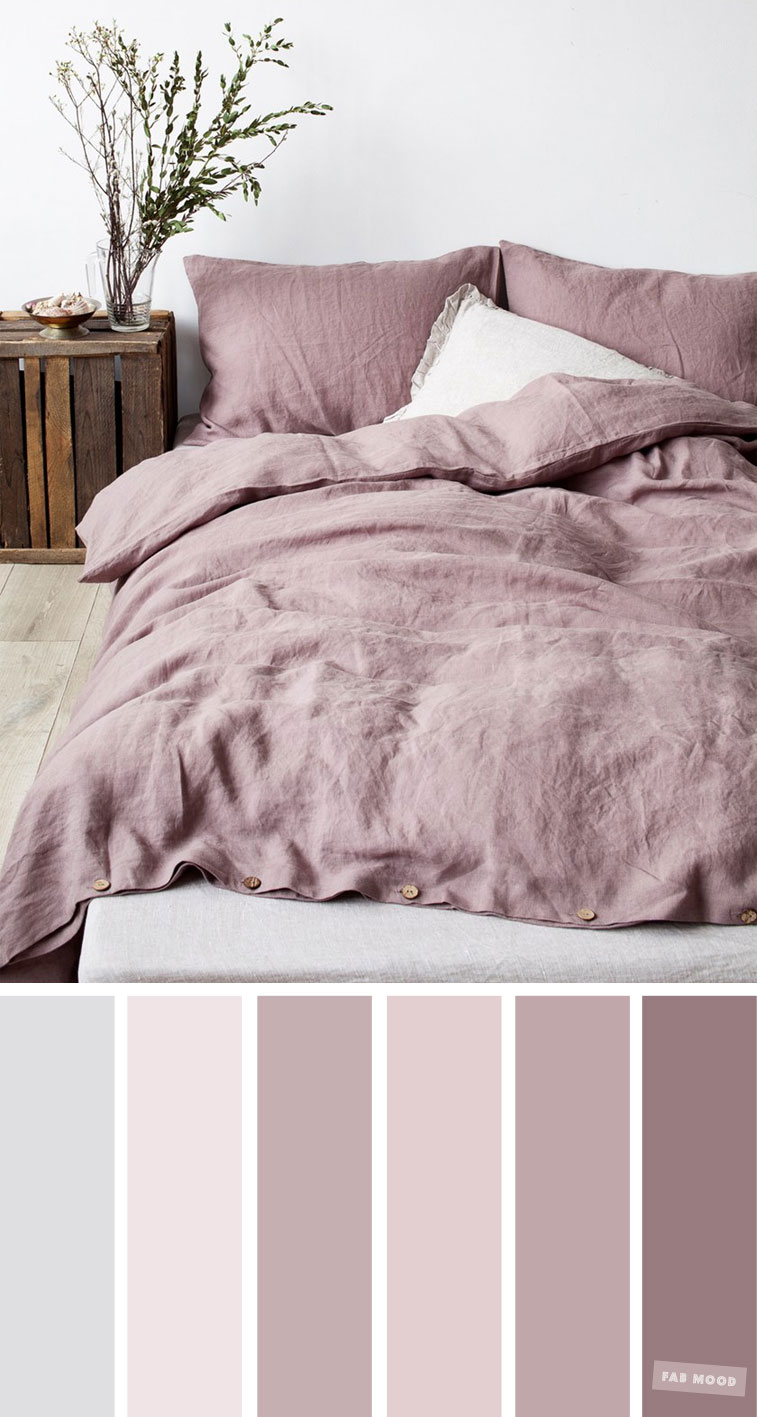 Shades of Mauve Colour Ideas For Bedroom