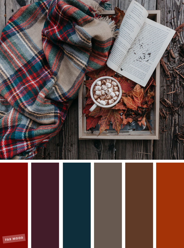 59 Pretty Autumn Color Schemes – Blanket Marshmallow and book Cozy Autumn