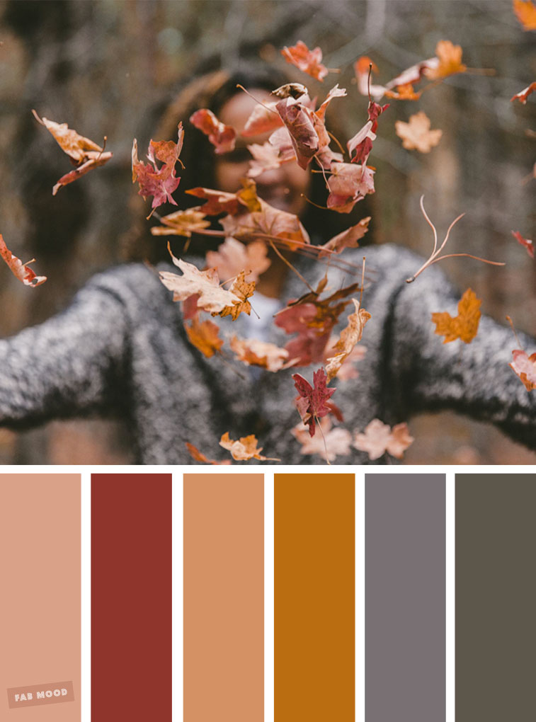 59 Pretty Autumn Color Schemes { Shades of brown and dark grey }