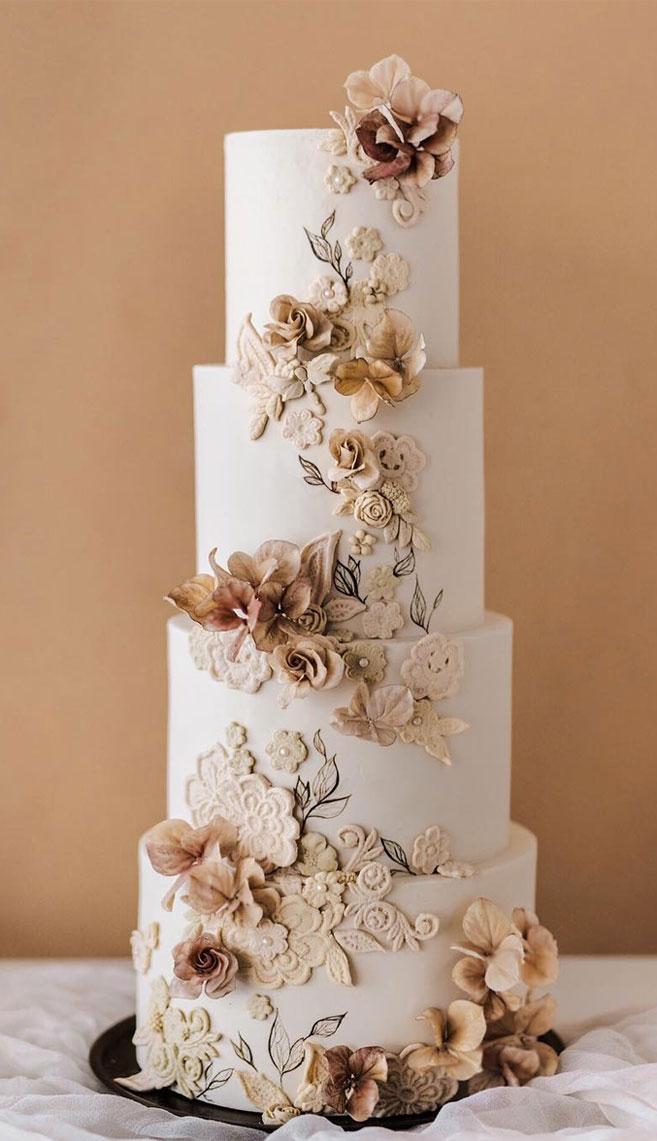 32 Jaw-Dropping Pretty Wedding Cake Ideas - Wedding cakes #weddingcake #cake #prettyweddingcake