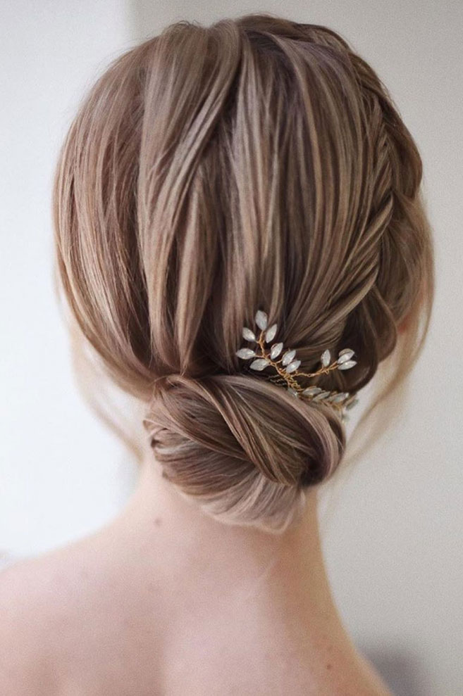 😍💓 These 100 Prettiest Wedding Hairstyles perfect for both wedding Ceremony and Reception 💓💓Braid+ #lowbun, bridal hairstyle,wedding updo hairstyles ,wedding hairstyles #weddinghair #hairstyles #updo #hairupstyle #hair