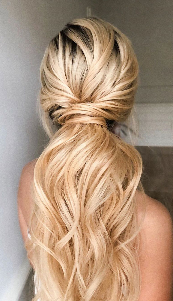 53 Best Ponytail Hairstyles { Low and High Ponytails } To Inspire - Fabmood   Wedding Colors ...