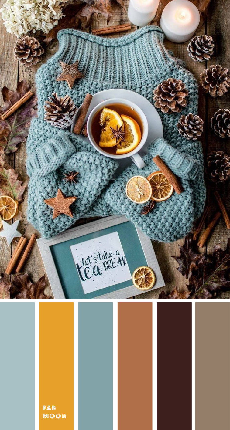 Spice hues + Eggshell Blue autumn colour  { Autumn Colour Inspiration }