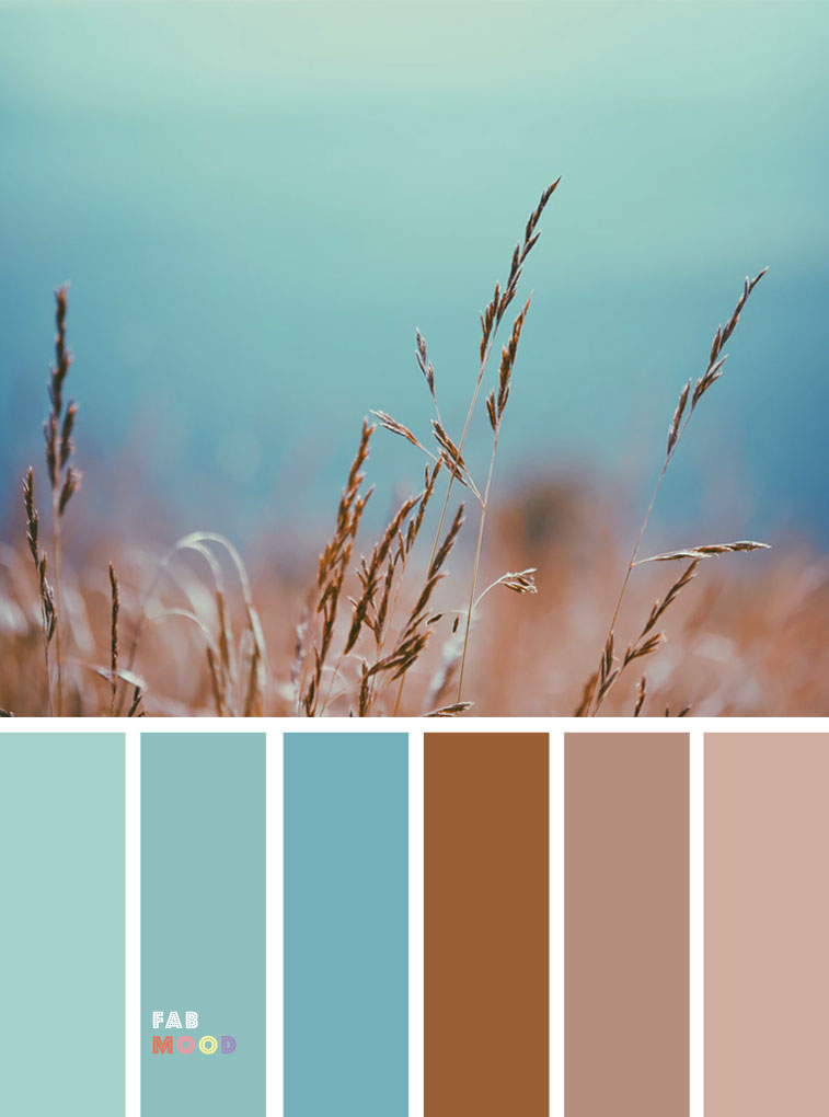 59 Pretty Autumn Color Schemes { Wheat Harvest and Teal }