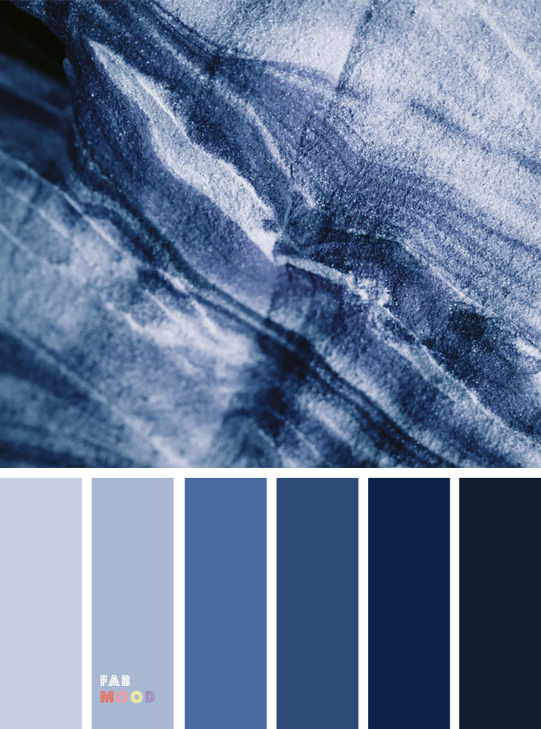 33 Pretty Winter Color Schemes { Dark Blue + Grey }