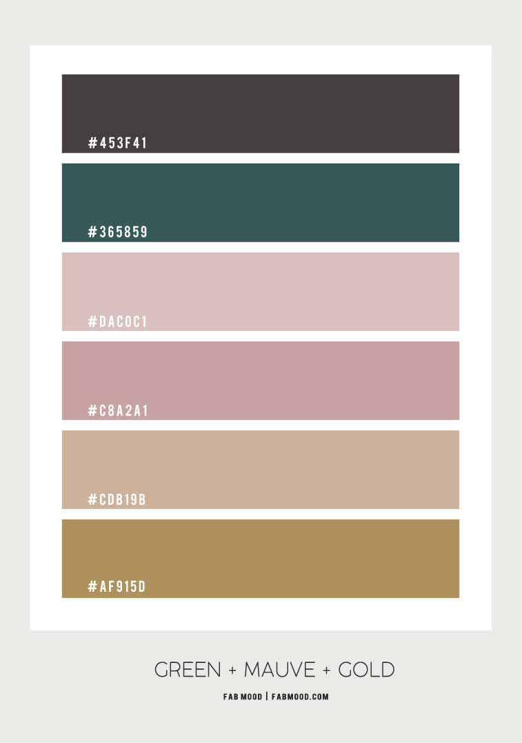 forest green and mauve color palette, color scheme, mauve color scheme, green and mauve color combo