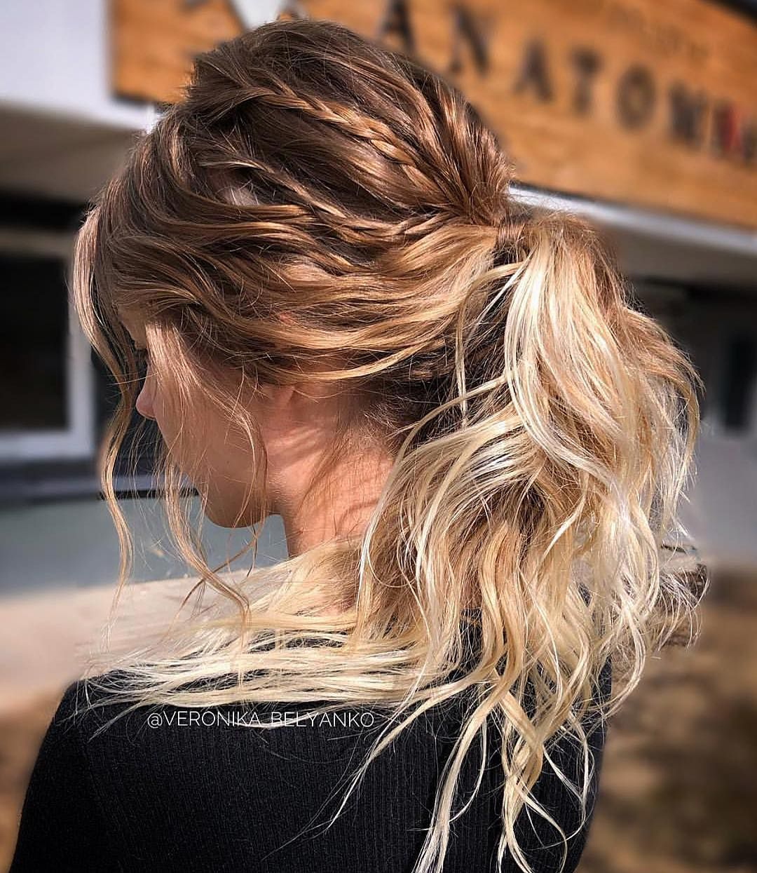 34 Beautiful Hairstyle Inspiration For any occasion ,wedding hairstyle ,updo ,wedding hairdo ,braids ,braid hairstyle ideas ,ponytail,braided updo #hairstyle #hair