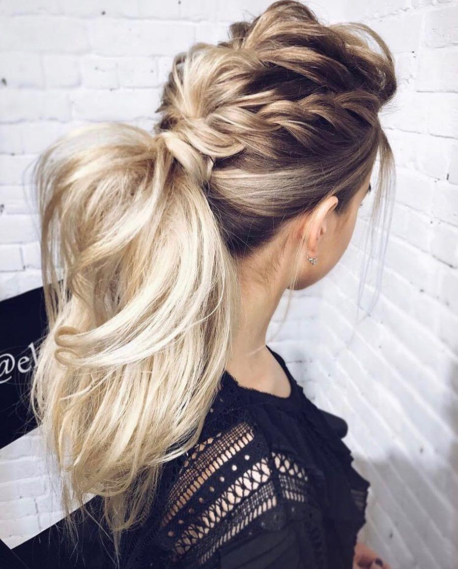 ponytail hairstyles #weddinghair #ponytails #wedding #hairstyles #ponytail #weddinghairstyles