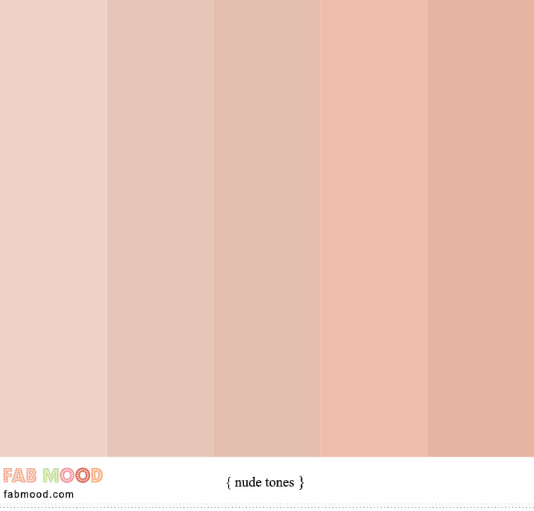Neutral tones : Nude Colour with peach under tones, color combinations #nude#color #colorpalette