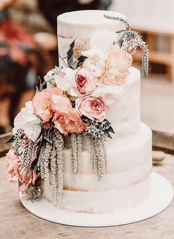 The 50 Most Beautiful Wedding Cakes, wedding cake ideas, sugar flower wedding cake #wedding #weddingcake
