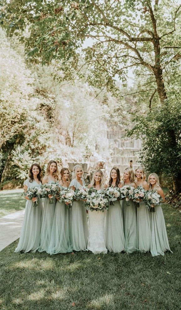 22 Fabulous Sage Wedding Ideas – Sage Bridesmaid Dresses
