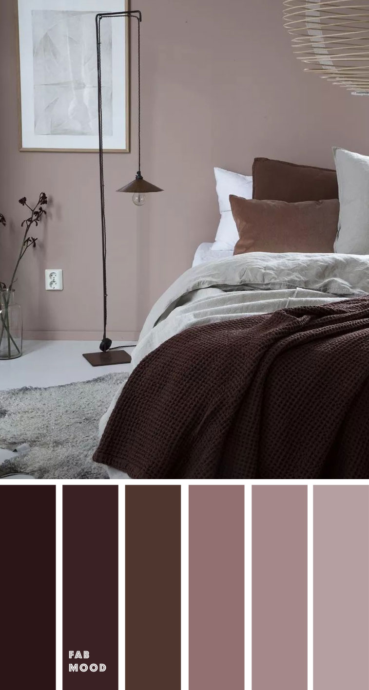 Earth Tone Colors For Bedroom { Dark plum + mauve }