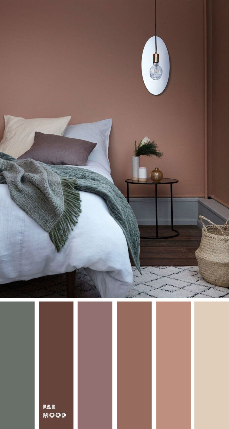 15 Earth Tone Colors For Bedroom { sandstone/copper tan + cool green }