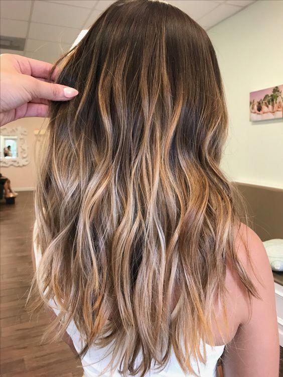 brown Balayage Highlights,Beachy balayage hair color #balayage #blondebalayage #hairpainting #hairpainters #bronde #brondebalayage #highlights #ombrehair