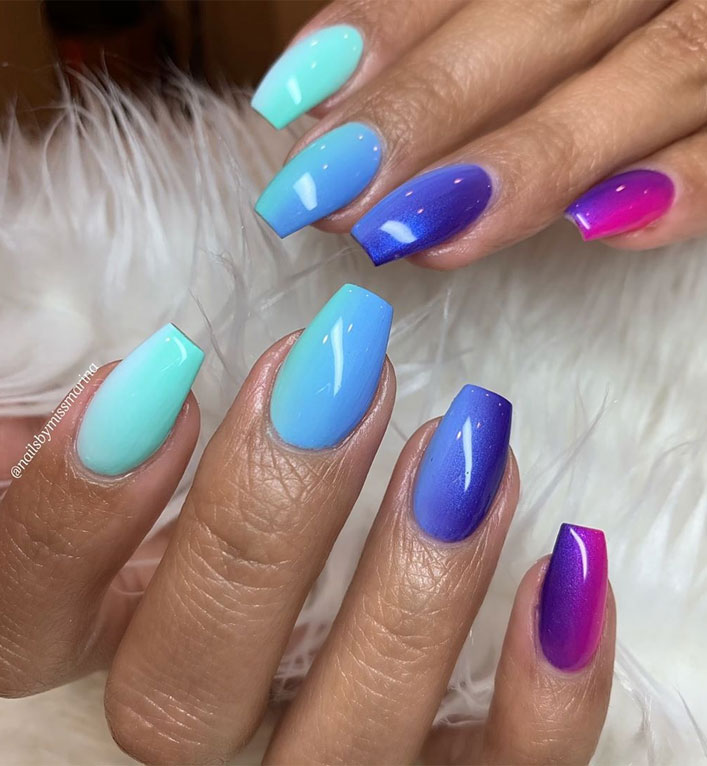 40 Fabulous Nail Designs That Are Totally in Season Right Now - nail art designs,almond nail art design, acrylic nail art, short nail designs with glitter #nail #nailart #acrylic