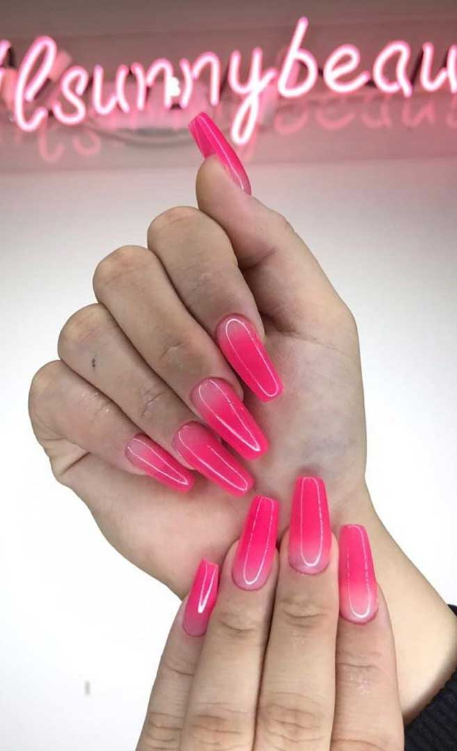 40 Fabulous Nail Designs That Are Totally in Season Right Now - summer nail art designs,almond nail art design, acrylic nail art, nail designs with glitter #nail #nailart #acrylic