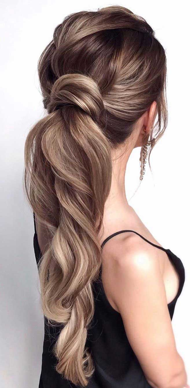 53 Best Ponytail Hairstyles { Low And High Ponytails } To Inspire - Fabmood | Wedding Colors ...