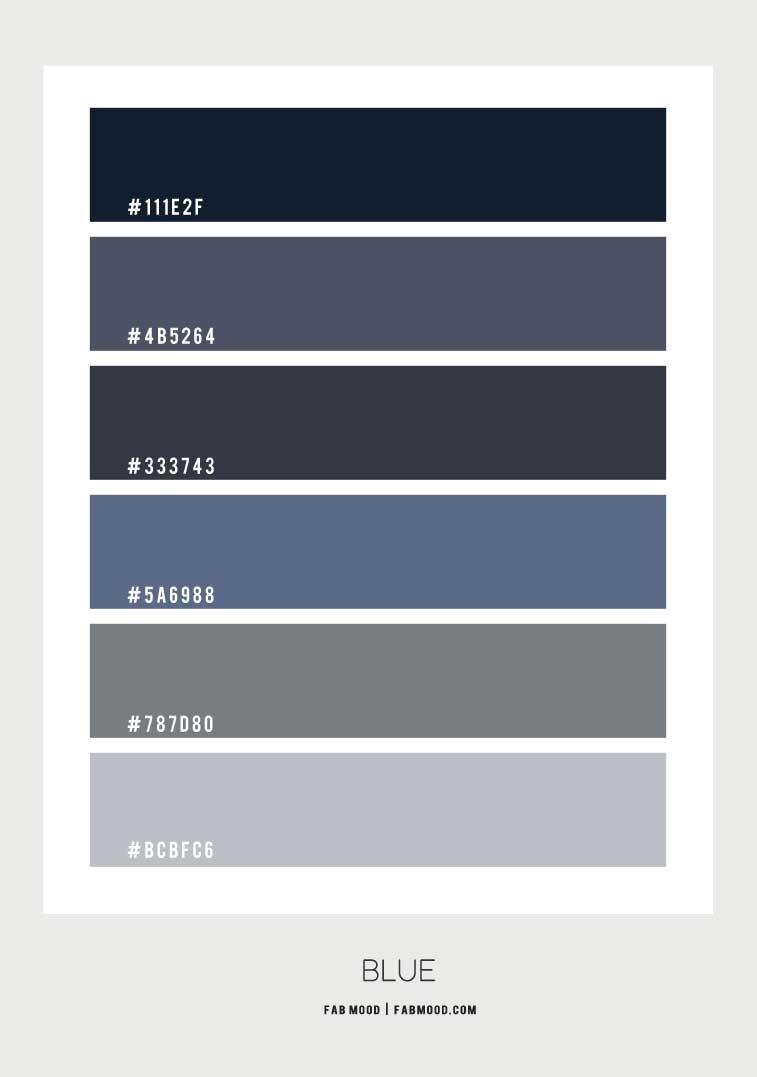 navy blue color palette, blue color scheme, blue and grey color palette