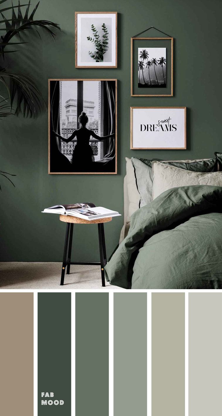 green bedroom , earth tone bedroom #green #bedroom #bedroomcolor bedroom color ideas, color schemes, color combos , home color decor ideas