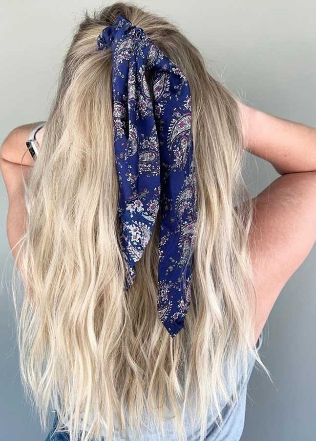 45 Pretty Ways To Style Your Hair With A Scarf