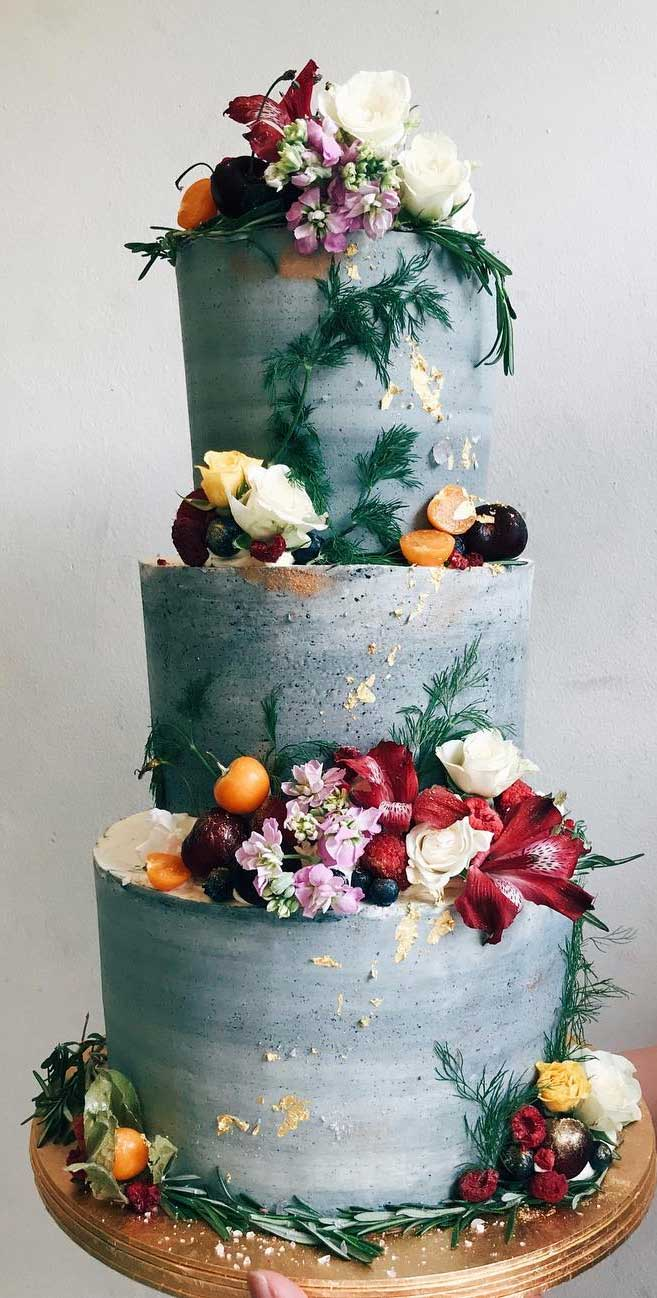 The 50 Most Beautiful Wedding Cakes – Three tier blue wedding cake