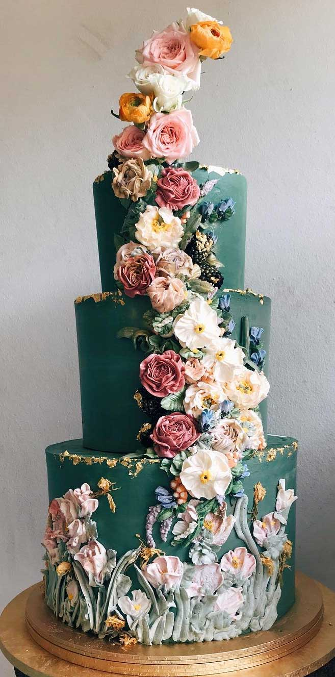 The 50 Most Beautiful Wedding Cakes Green Wedding Cake