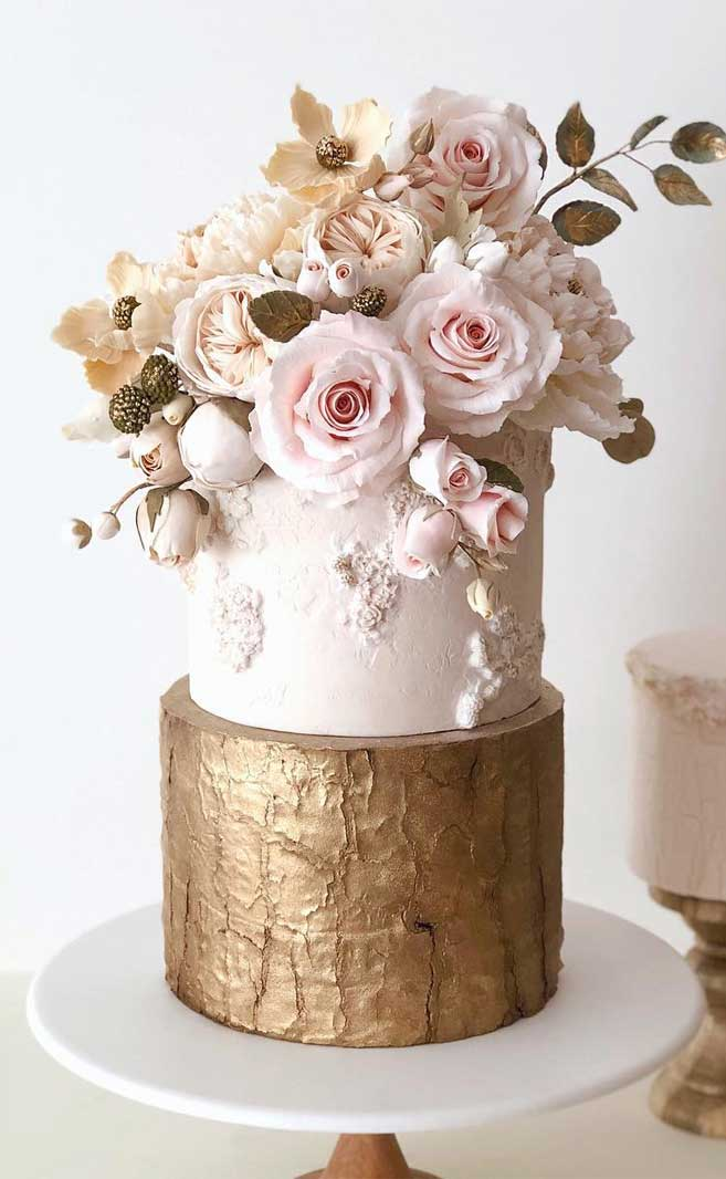The 50 Most Beautiful Wedding Cakes – Pink and Gold wedding cake
