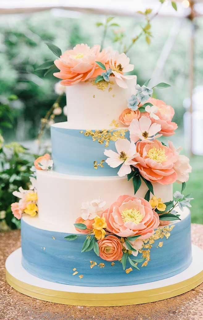 The 50 Most Beautiful Wedding Cakes Baby Blue White Wedding Cake