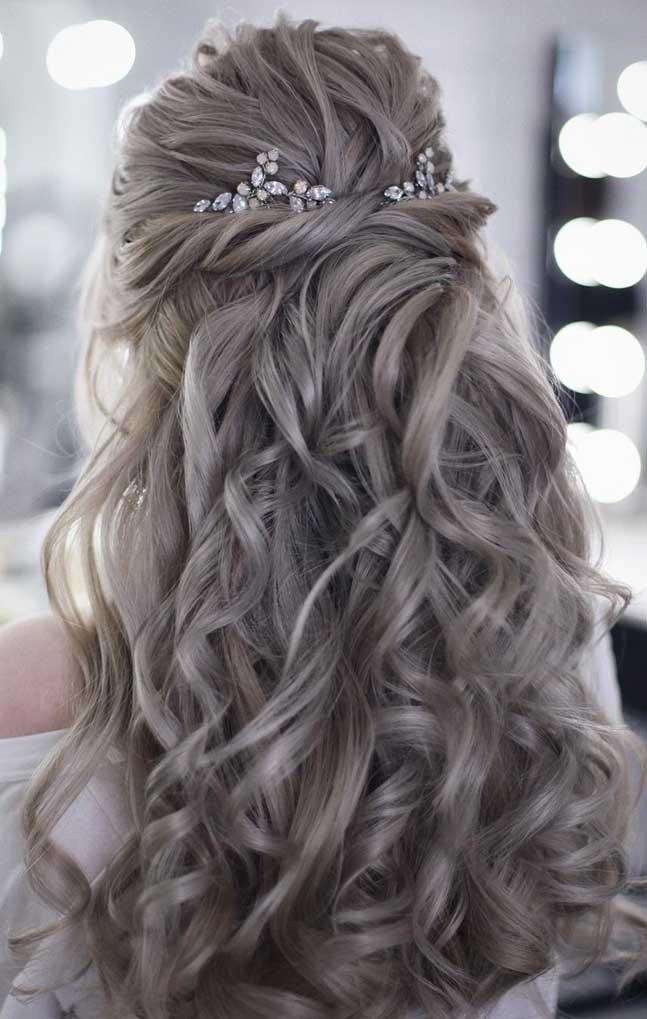43 Gorgeous Half Up Half Down Hairstyles Fabmood Wedding