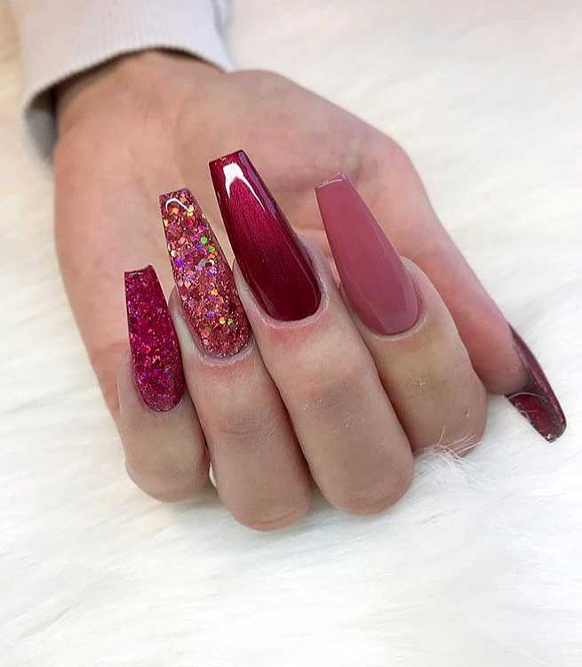 49 nail art designs that perfect for fall and winter, coffin nail art designs, almond nail art design, acrylic nail art, nail designs with glitter #nail #nailart #acrylic, fall nail art designs, nail art designs 2019, beautiful nail art designs images, latest nail art designs gallery, nail art designs flowers