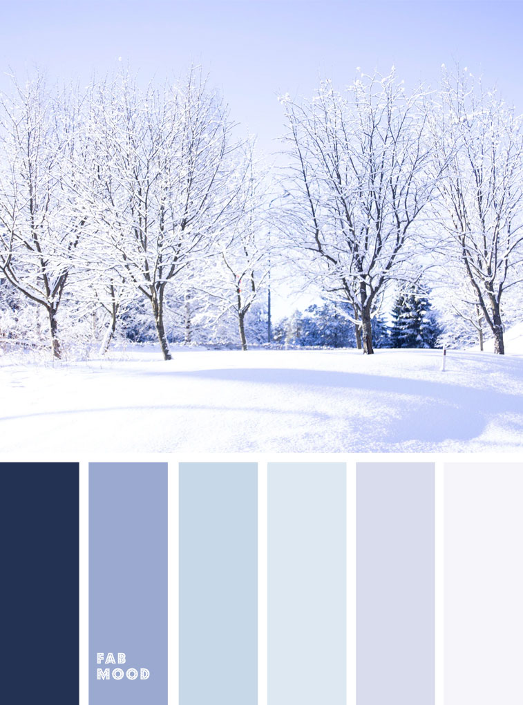 Lavender and blue winter color palette