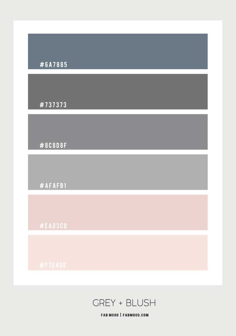 grey and pink color combo, blush and grey color scheme, blush and grey color palette
