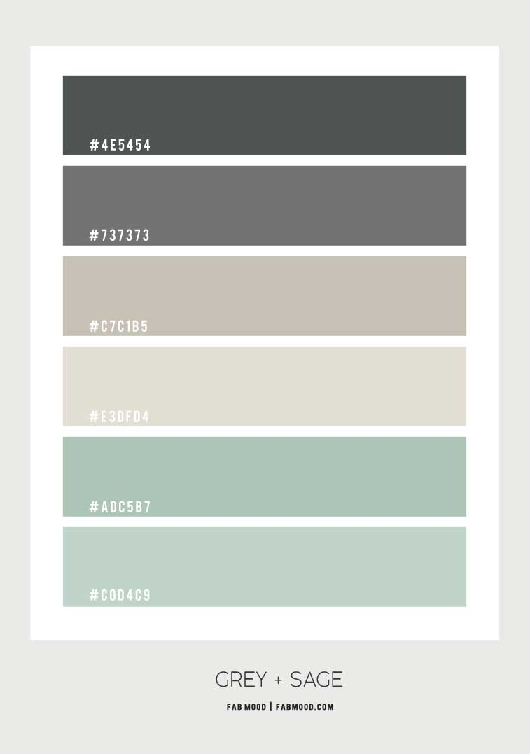 sage green and grey color palette, sage and grey color scheme, sage green and grey color palette