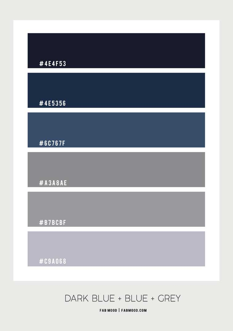 navy blue color palette, blue color scheme, blue and grey color palette