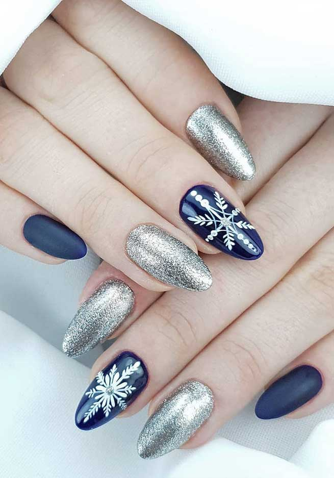 christmas nails acrylic, christmas nails gel, christmas nails simple, christmas nails navy blue, silver christmas nails, christmas nails 2019, christmas nails coffin, christmas nails, winter nail designs, dark winter nails, winter nails colors