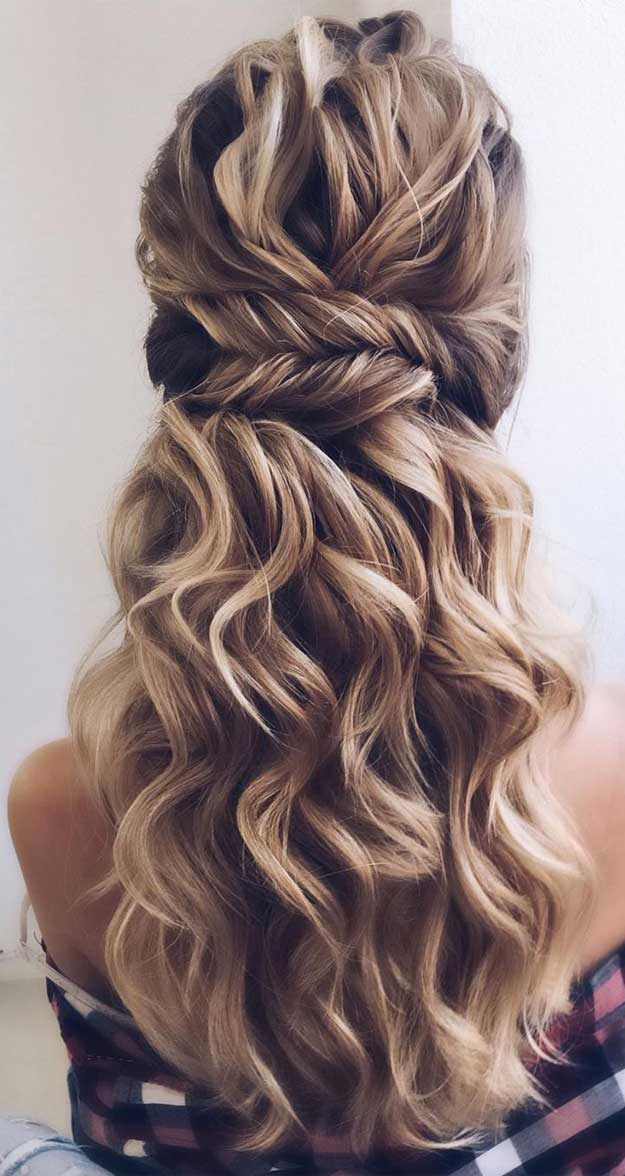 half up half down hairstyles , partial updo hairstyle , half up half down hairstyles wedding, fab mood, braid half up half down hairstyles , bridal hair , boho hairstyle #hair #hairstyles #braids #halfuphalfdown half up hairstyles for medium length hair, pretty half up half down hairstyles