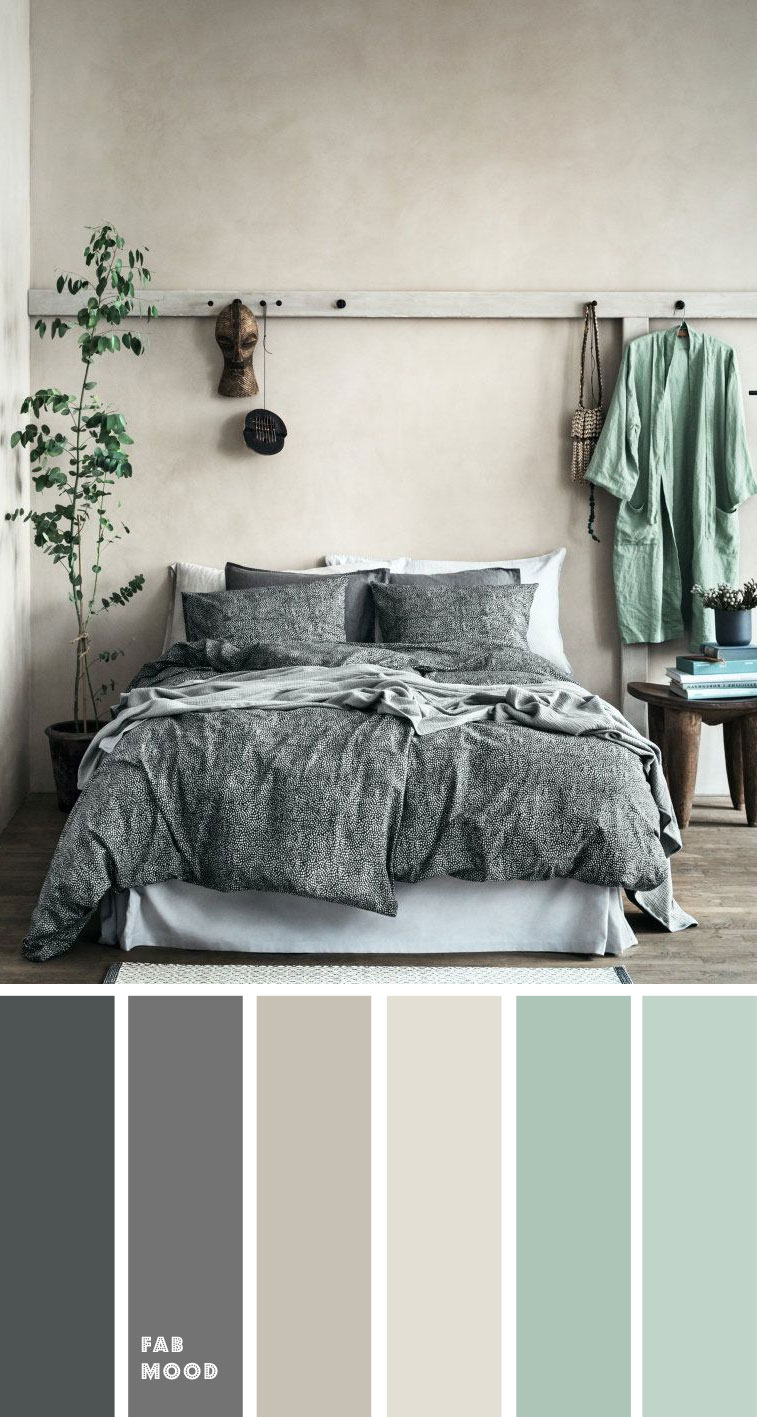 Grey and mint color palette