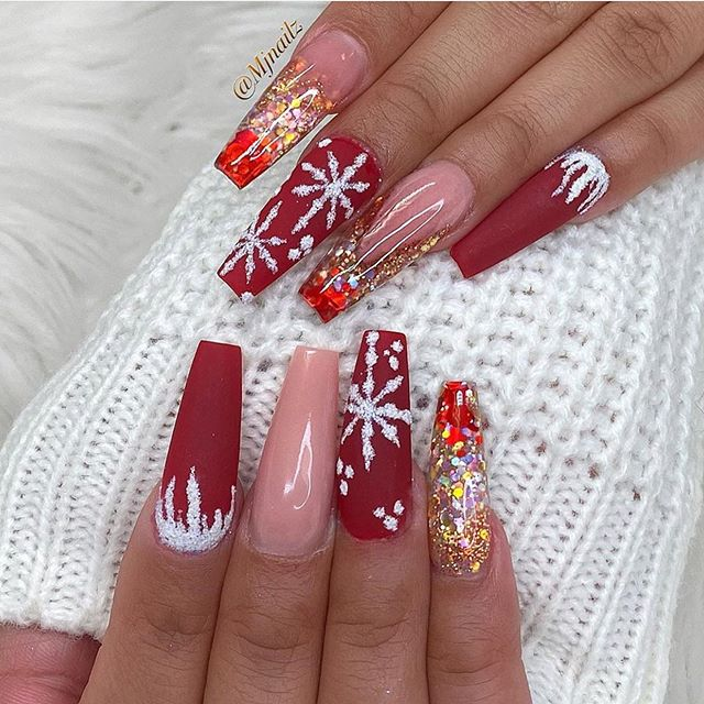 2020 Christmas Nails Christmas Nail Art Designs To Look Trendy This Season