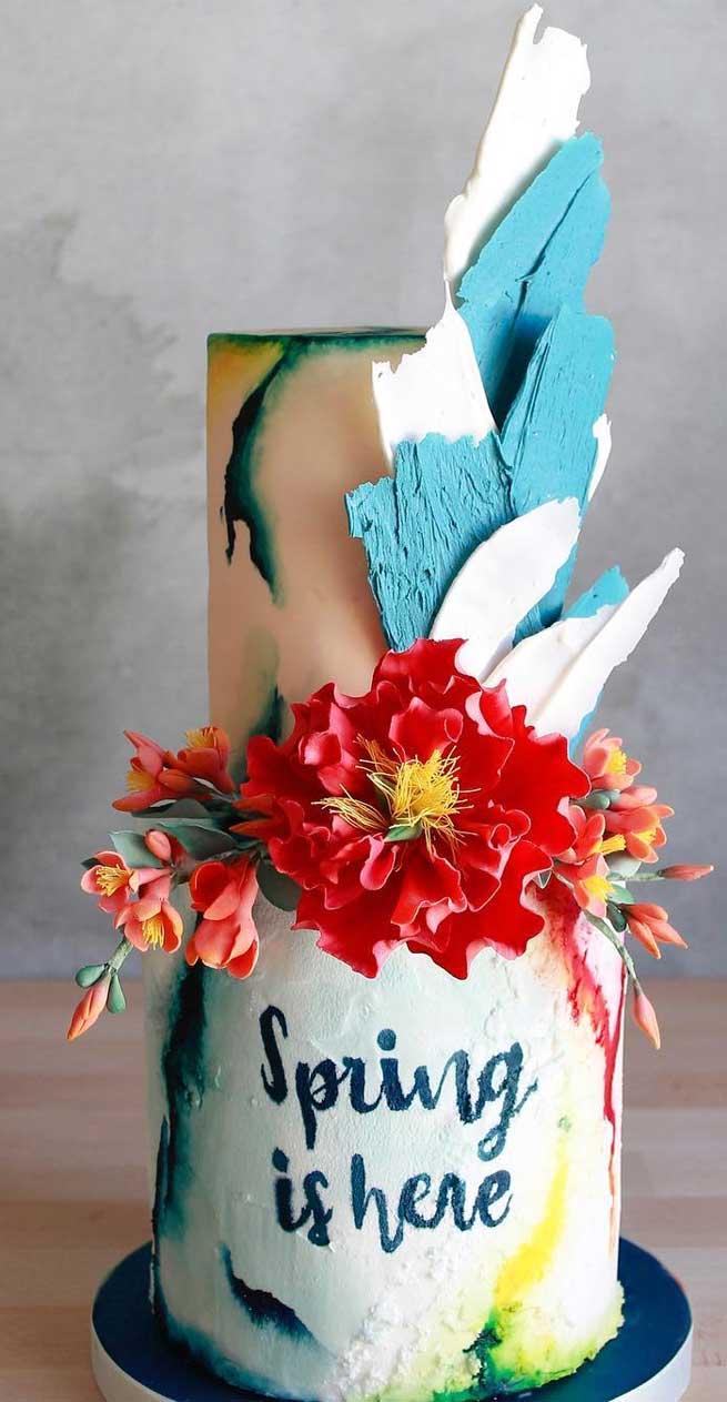 sculpture wedding cake , unique wedding cakes #weddingcakes wedding cakes