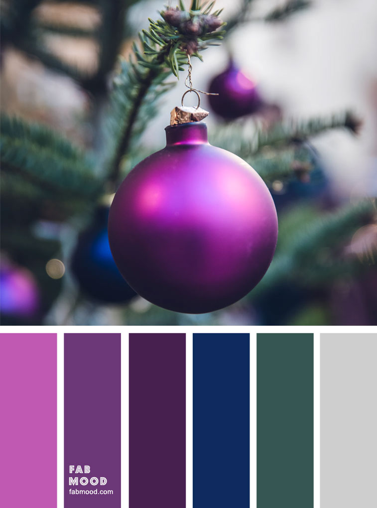 winter mood color palette, purple and green, color scheme, winter color combos #colors #winter #colorpalette