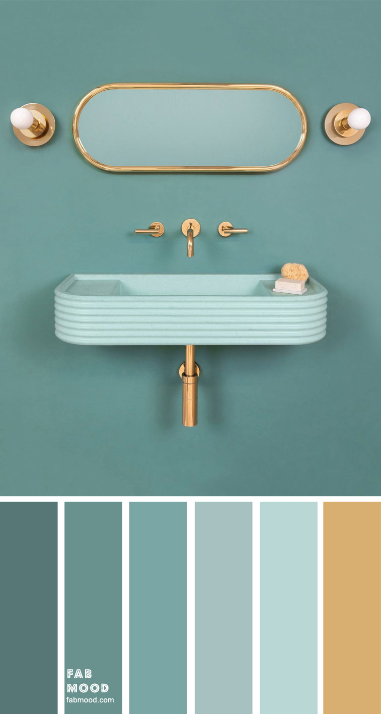 bathroom colors pictures, bathroom colors 2020, bathroom color schemes green, popular bathroom colors 2020, bathroom color schemes for small bathrooms, small bathroom color ideas , blue and pink bathroom, blue bathroom, green and gold #bathroom #colorscheme #bathroomcolor