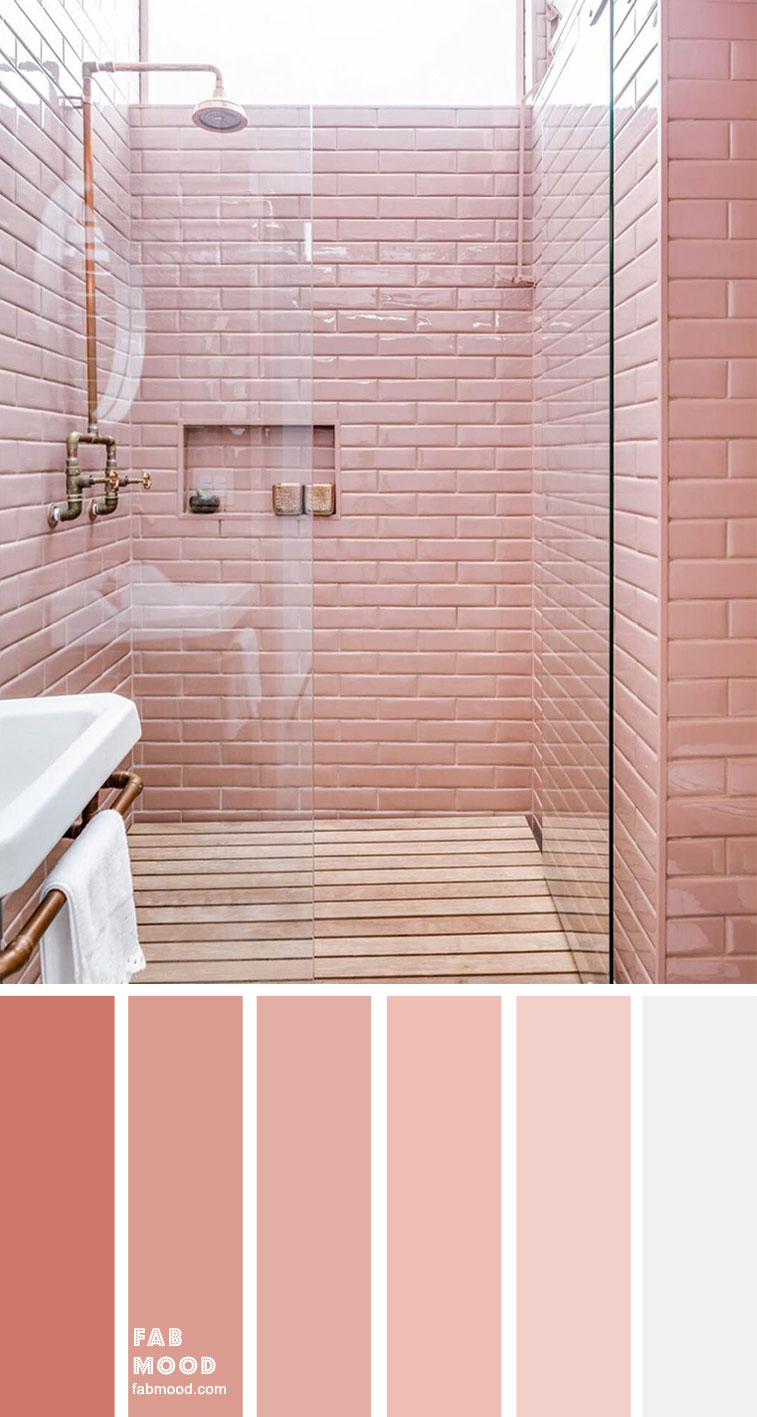 8 Beautiful Color Schemes For Bathroom Color Ideas – Peach Pink
