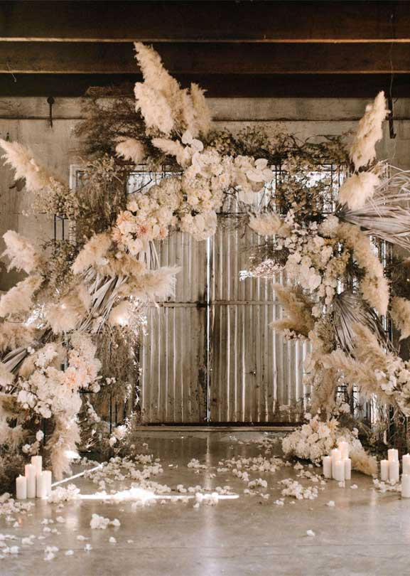 These Fab Boho Wedding Altars, Arches and Backdrops that make us swoon 12