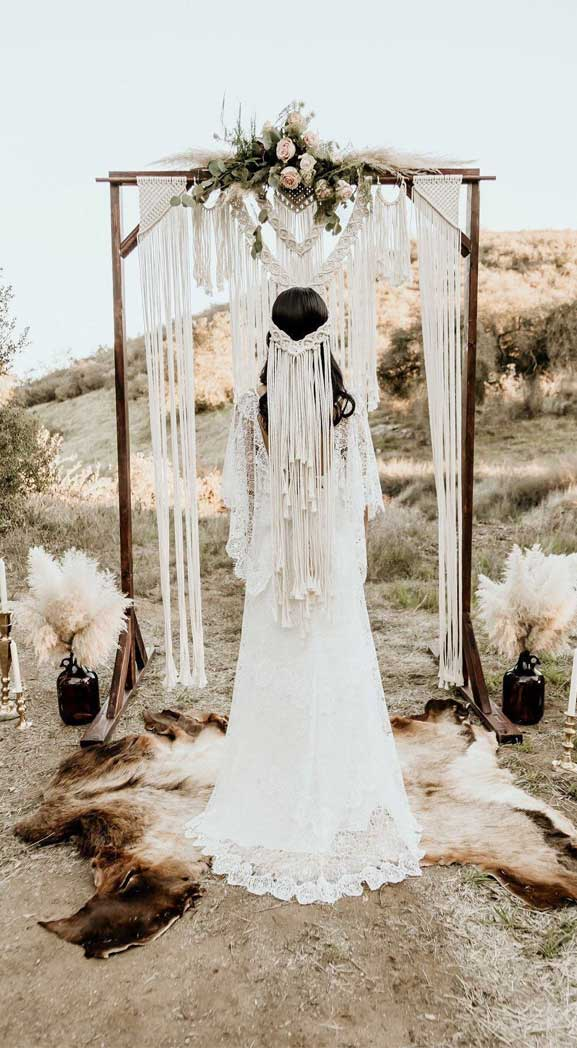 These Fab Boho Wedding Altars, Arches and Backdrops that make us swoon 14