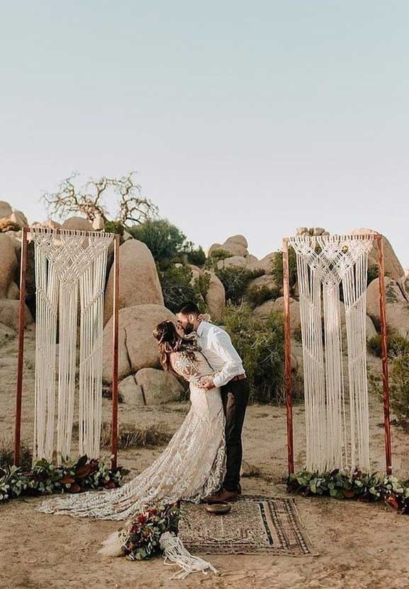 These Fab Boho Wedding Altars, Arches and Backdrops that make us swoon 17