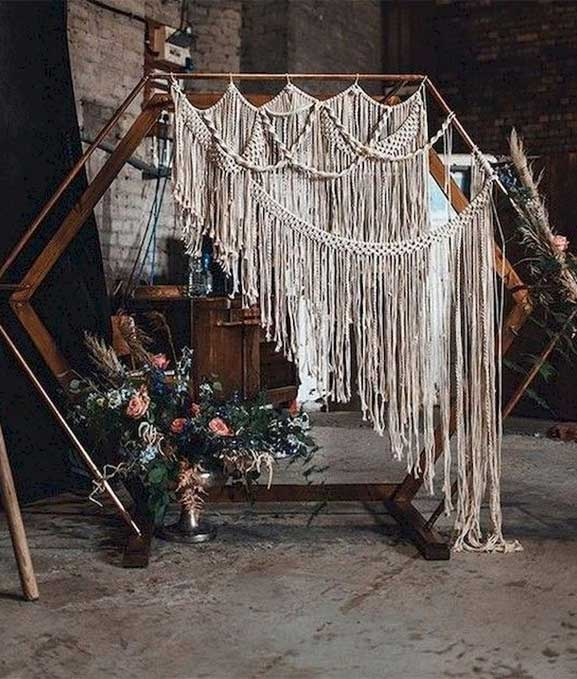 These Fab Boho Wedding Altars, Arches and Backdrops that make us swoon 6