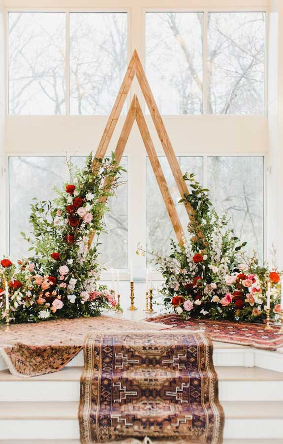 These Fab Boho Wedding Altars, Arches and Backdrops that make us swoon 1