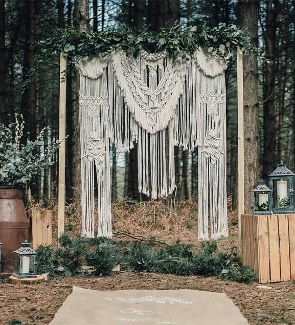 These Fab Boho Wedding Altars, Arches and Backdrops that make us swoon 16