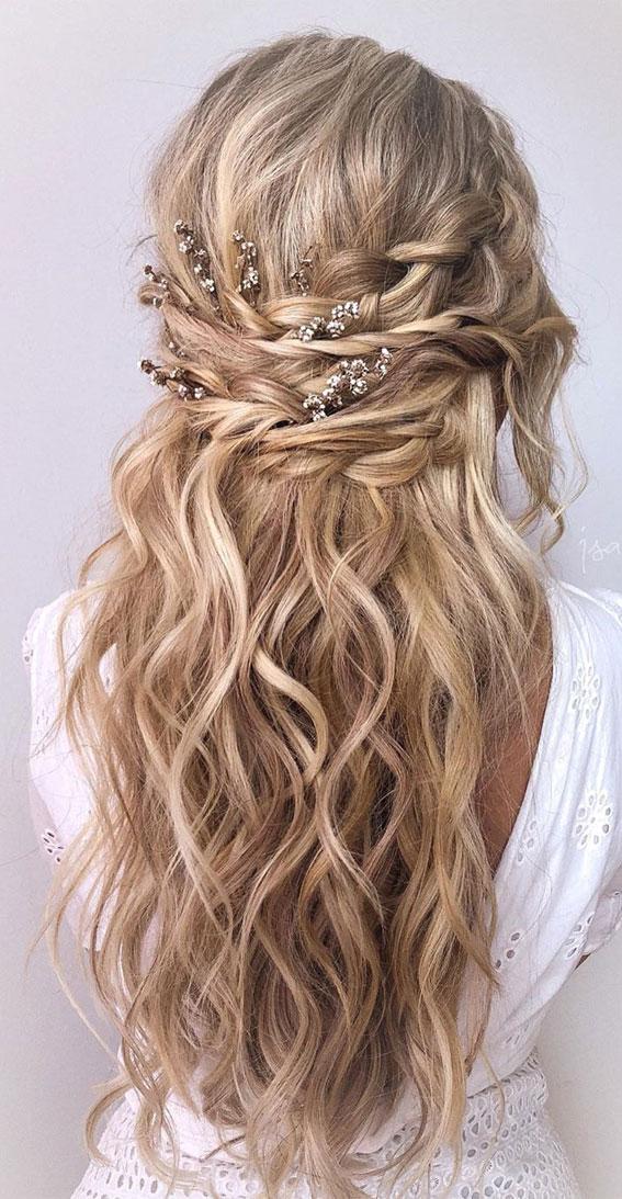 29 Beautiful Half Up Half Down Hairstyles - Dutch braid ...