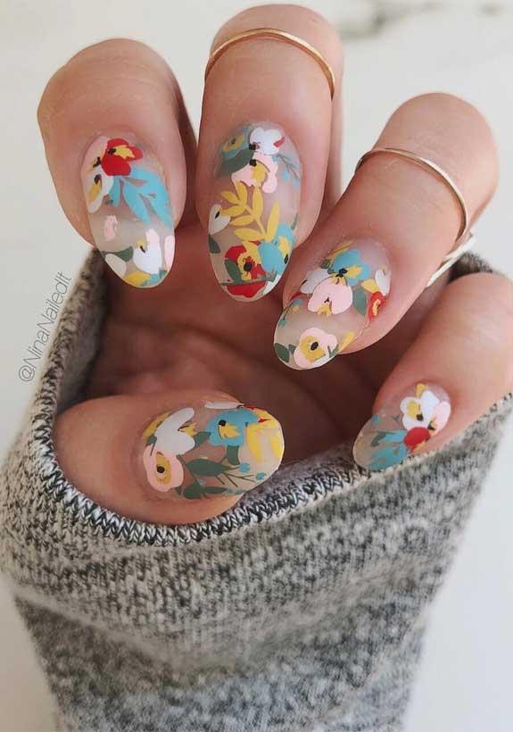 flower nail art designs, romantic nail art, white nail art designs, romantic nail polish color, pretty nail art designs, nail designs, spring nails, spring nail art designs, nail art designs 2020 #nailcolor #prettynails nail art trends 2020, nail designs for spring #nailart